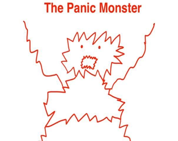Drawing of the panic monster by Tim Urban from Wait but Why, Uitstelgedrag